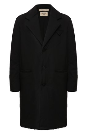 Мужской утепленное пальто BOTTEGA VENETA черного цвета, арт. 607507/VKNS0   Фото 1