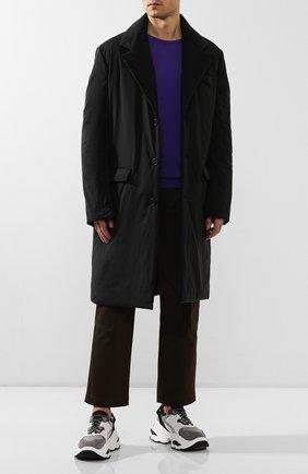 Мужской утепленное пальто BOTTEGA VENETA черного цвета, арт. 607507/VKNS0   Фото 2