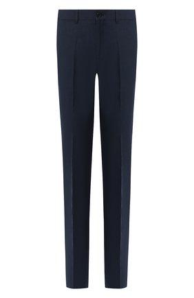 Мужской льняные брюки RALPH LAUREN темно-синего цвета, арт. 790585317 | Фото 1