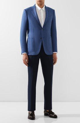 Мужской льняные брюки RALPH LAUREN темно-синего цвета, арт. 790585317 | Фото 2