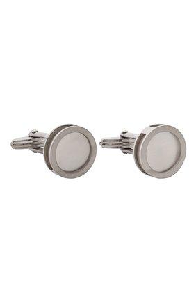 Мужские запонки LANVIN серебряного цвета, арт. 9565/7 | Фото 1
