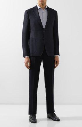 Мужская хлопковая сорочка BOSS синего цвета, арт. 50422093 | Фото 2