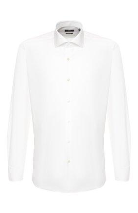 Мужская хлопковая сорочка BOSS белого цвета, арт. 50421546 | Фото 1