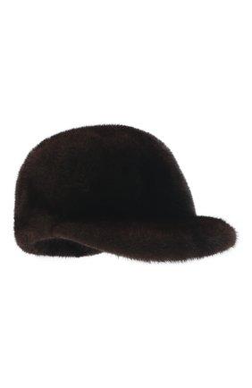 Мужской бейсболка из меха норки FURLAND коричневого цвета, арт. 0000802110034600584 | Фото 1
