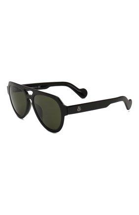 Мужские солнцезащитные очки MONCLER черного цвета, арт. ML 0094 01N 54 С/З ОЧКИ | Фото 1