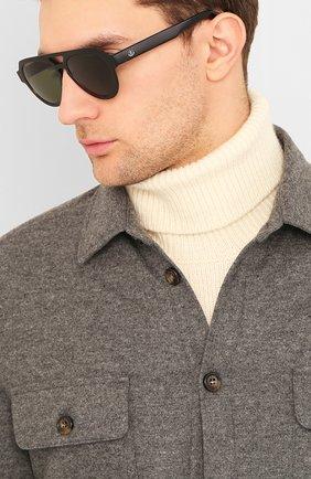 Мужские солнцезащитные очки MONCLER черного цвета, арт. ML 0094 01N 54 С/З ОЧКИ | Фото 2