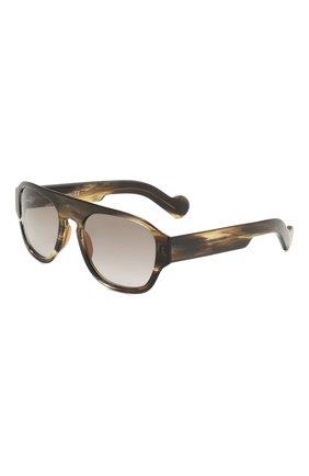 Мужские солнцезащитные очки MONCLER коричневого цвета, арт. ML 0096 98J 53 С/З ОЧКИ | Фото 1