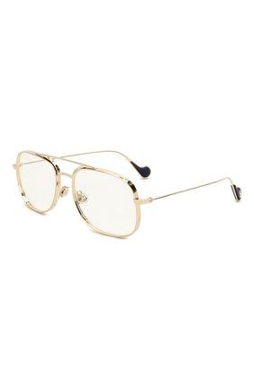 Мужские солнцезащитные очки MONCLER золотого цвета, арт. ML 0104 032 57 С/З ОЧКИ | Фото 1