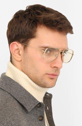 Мужские солнцезащитные очки MONCLER золотого цвета, арт. ML 0104 032 57 С/З ОЧКИ | Фото 2