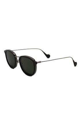 Мужские солнцезащитные очки MONCLER черного цвета, арт. ML 0126 01R 51 С/З ОЧКИ | Фото 1