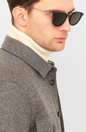 Мужские солнцезащитные очки MONCLER черного цвета, арт. ML 0126 01R 51 С/З ОЧКИ | Фото 2