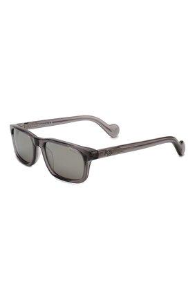 Мужские солнцезащитные очки MONCLER серого цвета, арт. ML 0116 20C 56 С/З ОЧКИ | Фото 1