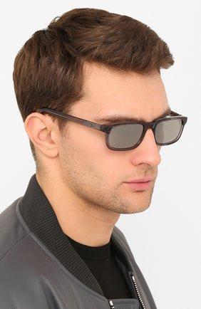 Мужские солнцезащитные очки MONCLER серого цвета, арт. ML 0116 20C 56 С/З ОЧКИ | Фото 2