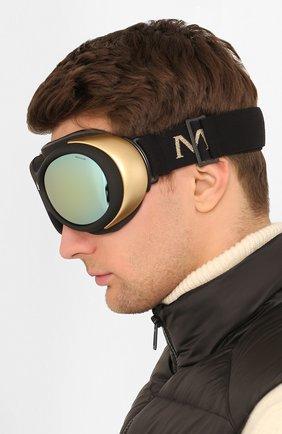 Мужские горнолыжная маска MONCLER черного цвета, арт. ML 0130 05L 89 С/З ОЧКИ | Фото 2