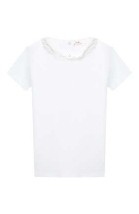 Детская хлопковая футболка IL GUFO белого цвета, арт. P20TS240M0014/10A-12A | Фото 1