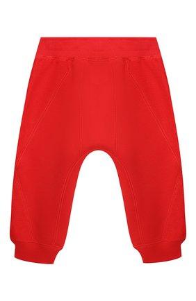 Детские хлопковые джоггеры BURBERRY красного цвета, арт. 8025061 | Фото 2