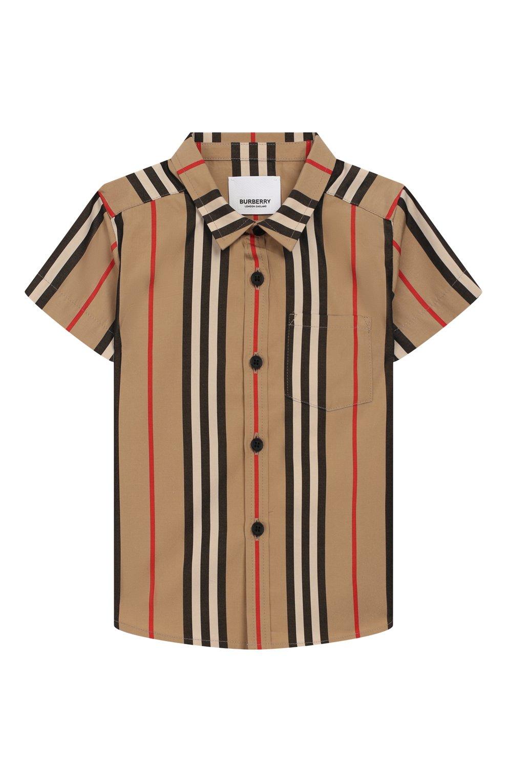 Детский хлопковая рубашка BURBERRY разноцветного цвета, арт. 8023263 | Фото 1