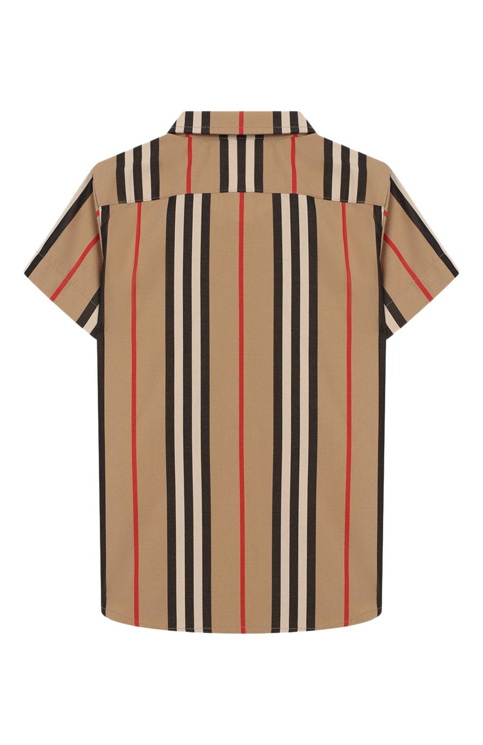 Детский хлопковая рубашка BURBERRY разноцветного цвета, арт. 8023263 | Фото 2