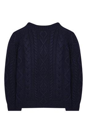 Детский шерстяной пуловер BURBERRY темно-синего цвета, арт. 8023063 | Фото 2