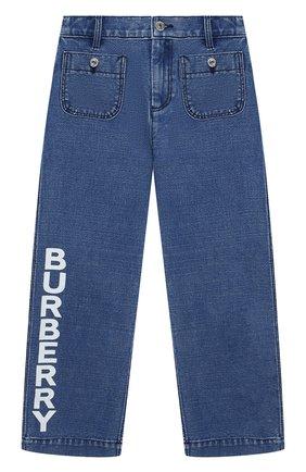 Детские джинсы BURBERRY темно-синего цвета, арт. 8023021 | Фото 1