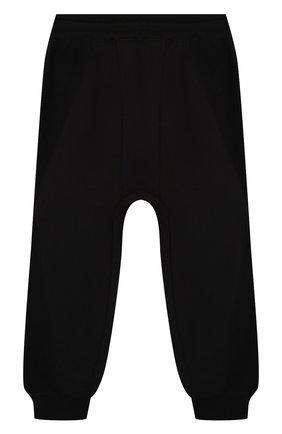 Детские хлопковые джоггеры BURBERRY черного цвета, арт. 8022244 | Фото 2