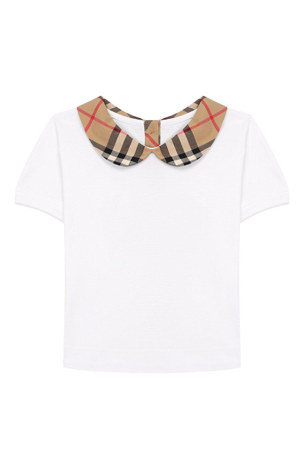 Детский хлопковая блузка BURBERRY разноцветного цвета, арт. 8022116   Фото 1