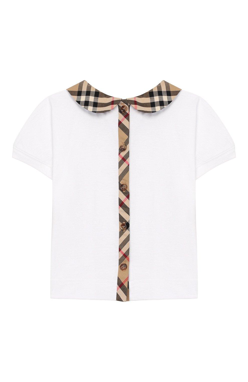 Детский хлопковая блузка BURBERRY разноцветного цвета, арт. 8022116   Фото 2