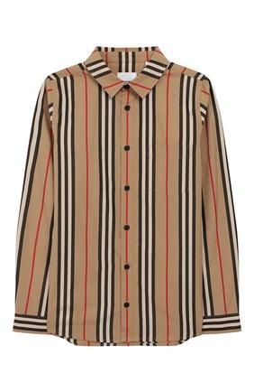 Детская хлопковая рубашка BURBERRY разноцветного цвета, арт. 8022076 | Фото 1