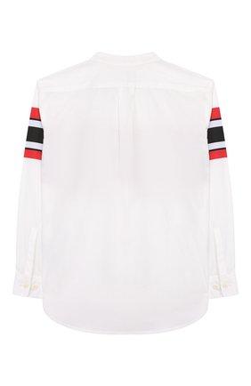 Детская хлопковая рубашка BURBERRY белого цвета, арт. 8022075 | Фото 2