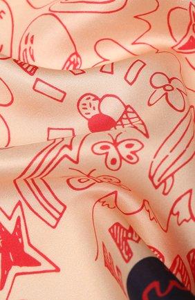 Детский шелковый платок EMPORIO ARMANI разноцветного цвета, арт. 394599/0P582 | Фото 2