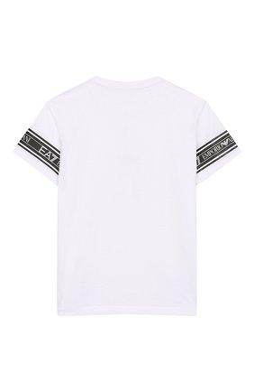 Детская хлопковая футболка EA 7 белого цвета, арт. 3HBT57/BJT3Z | Фото 2