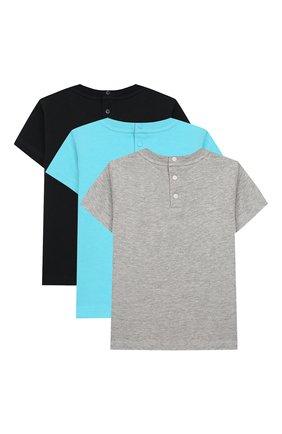 Детский комплект из трех футболок EMPORIO ARMANI разноцветного цвета, арт. 3HHD01/4J09Z | Фото 2
