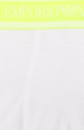 Детские комплект из 2-х хлопковых боксеров EMPORIO ARMANI разноцветного цвета, арт. 406501/0P650 | Фото 4