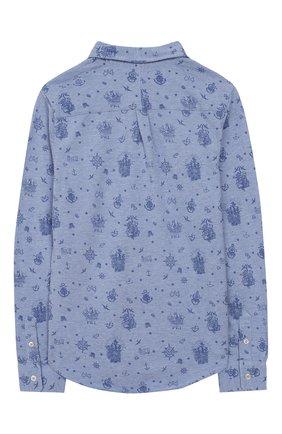Детская хлопковая рубашка POLO RALPH LAUREN голубого цвета, арт. 321765966 | Фото 2