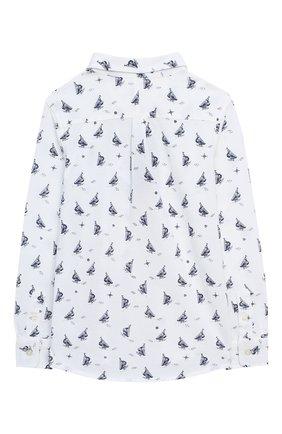 Детская хлопковая рубашка POLO RALPH LAUREN белого цвета, арт. 321760472 | Фото 2