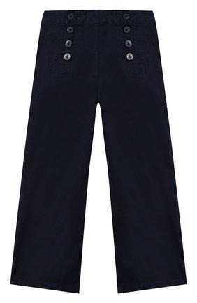 Детского хлопковые брюки POLO RALPH LAUREN синего цвета, арт. 313765781 | Фото 1