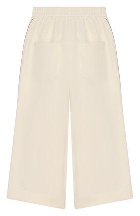 Детского хлопковые брюки BRUNELLO CUCINELLI белого цвета, арт. BA848P7157 | Фото 2