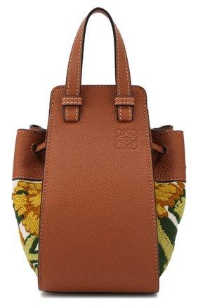 Женская сумка hammock floral mini LOEWE желтого цвета, арт. 303.30.V07   Фото 1
