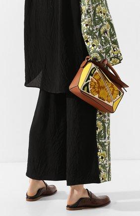 Женская сумка puzzle floral small LOEWE желтого цвета, арт. 303.30.S21   Фото 2