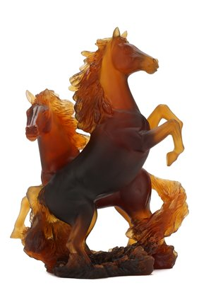 Мужская скульптура гарцующие кони DAUM коричневого цвета, арт. 05687 | Фото 1