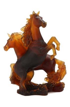 Мужская скульптура гарцующие кони DAUM коричневого цвета, арт. 05687 | Фото 2