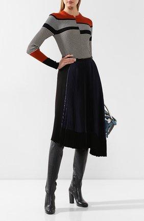 Женские кожаные сапоги LEMAIRE темно-серого цвета, арт. W 194 F0258 LL130 | Фото 2