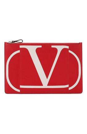 Женские кожаный футляр для документов valentino garavani VALENTINO красного цвета, арт. TW2P0269/KZQ | Фото 1