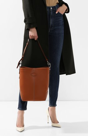 Женская сумка TOD'S коричневого цвета, арт. XBWDBAE0200XPA | Фото 2