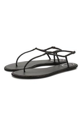 Женские сандалии diana RENE CAOVILLA черного цвета, арт. C10210-010-R001V050 | Фото 1