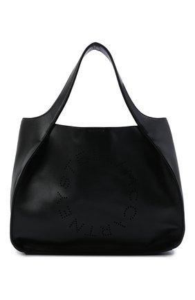 Женский сумка stella logo STELLA MCCARTNEY черного цвета, арт. 513860/W8542 | Фото 1 (Материал: Экокожа, Текстиль; Сумки-технические: Сумки-шопперы; Размер: medium)