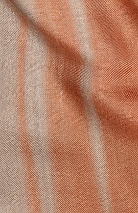 Женская шаль из смеси кашемира и шелка LORO PIANA коричневого цвета, арт. FAL0010 | Фото 2