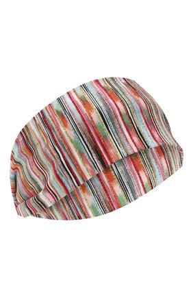 Женская повязка на голову MISSONI разноцветного цвета, арт. MMS00001/BK00IC | Фото 1