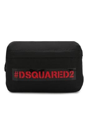Детская текстильная сумка DSQUARED2 черного цвета, арт. DQ043A-D00PF | Фото 1