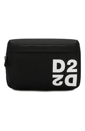 Детская текстильная сумка DSQUARED2 черного цвета, арт. DQ044S-D00PF | Фото 1